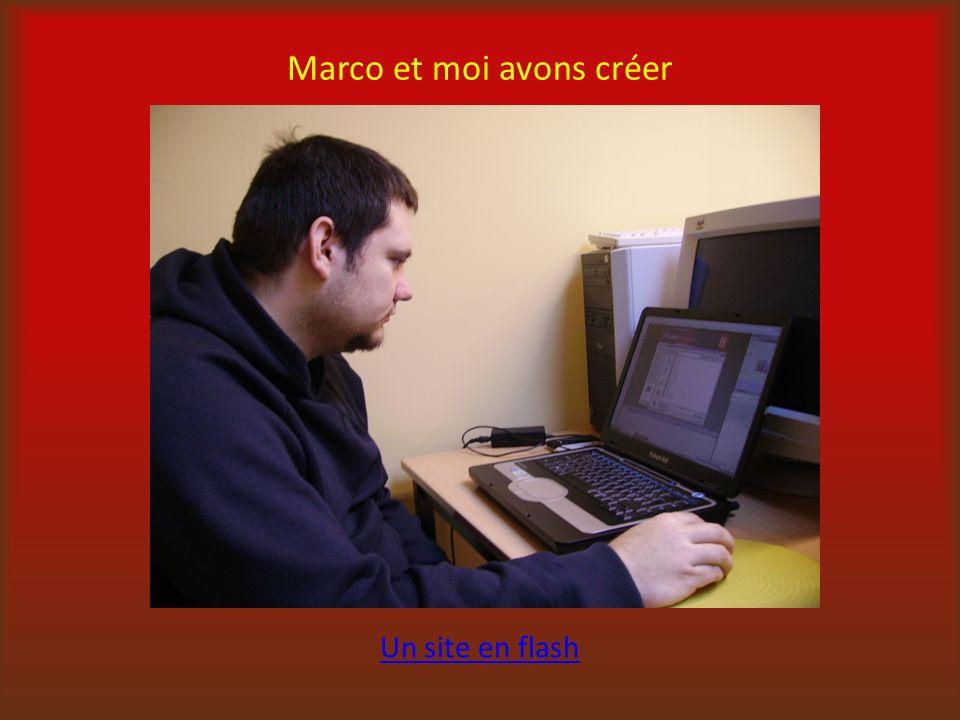 Marco et moi avons créer Un site en flash