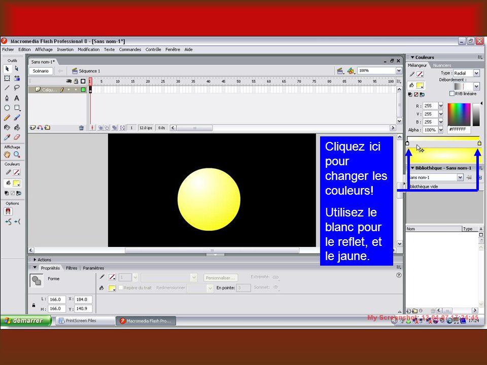 Cliquez ici pour changer les couleurs! Utilisez le blanc pour le reflet, et le jaune.