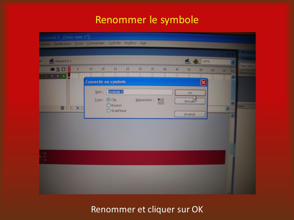 Renommer le symbole Renommer et cliquer sur OK