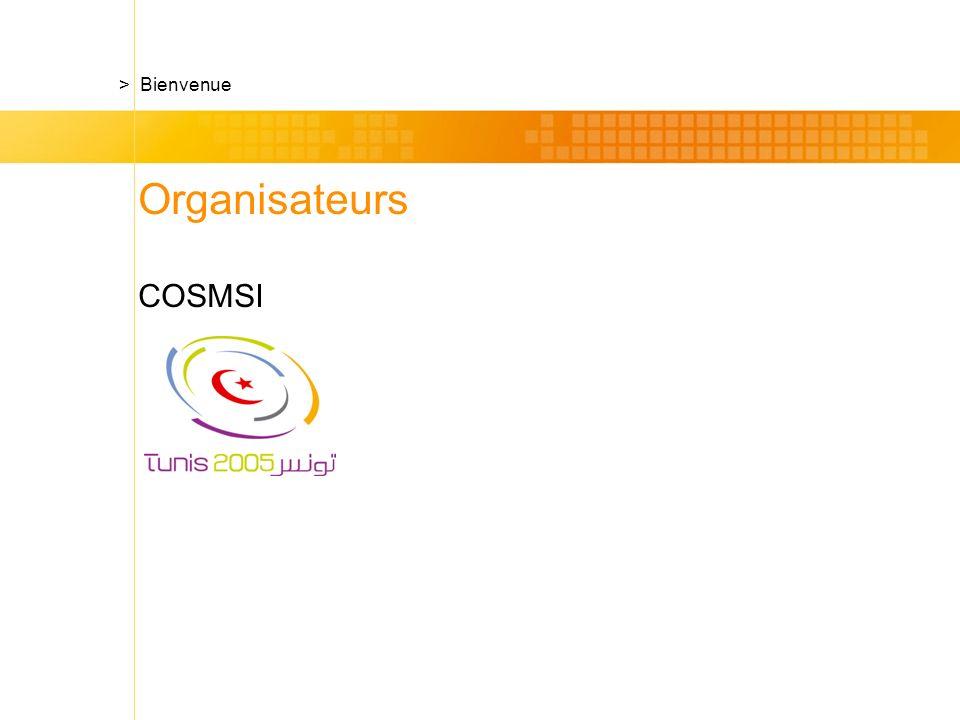 Organisateurs COSMSI > Bienvenue
