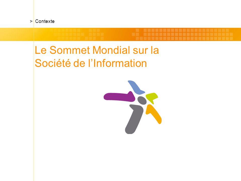 Le Sommet Mondial sur la Société de lInformation
