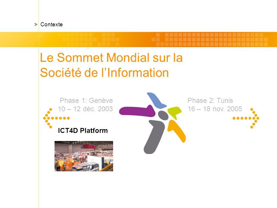 ICT4D Platform > Contexte Phase 1: Genève 10 – 12 déc.