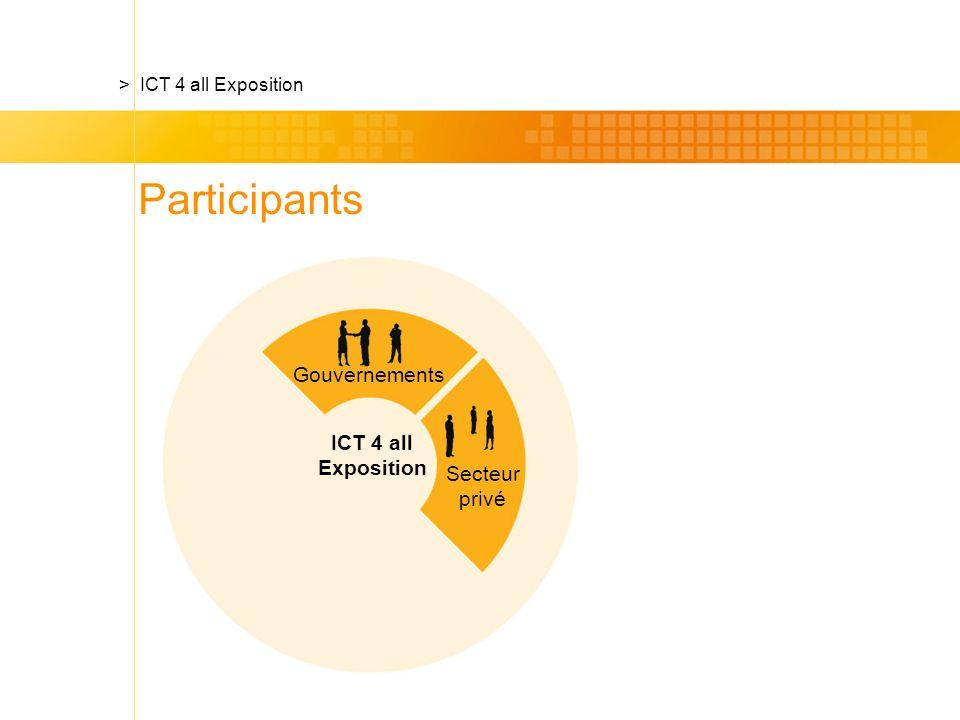 Secteur privé ICT 4 all Exposition > ICT 4 all Exposition Gouvernements Participants