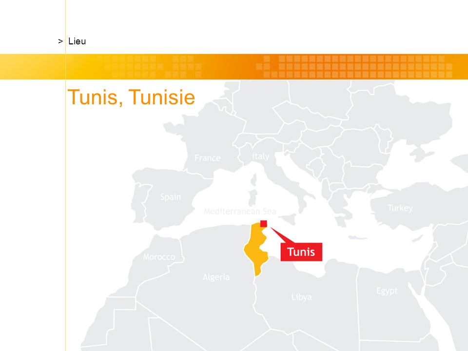 Tunis, Tunisie > Lieu