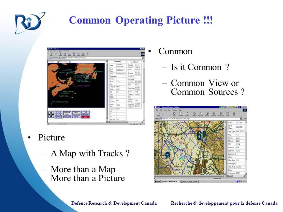 Defence Research & Development Canada Recherche & développement pour la défense Canada Questions ?