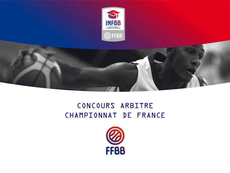 CONCOURS ARBITRE CHAMPIONNAT DE FRANCE