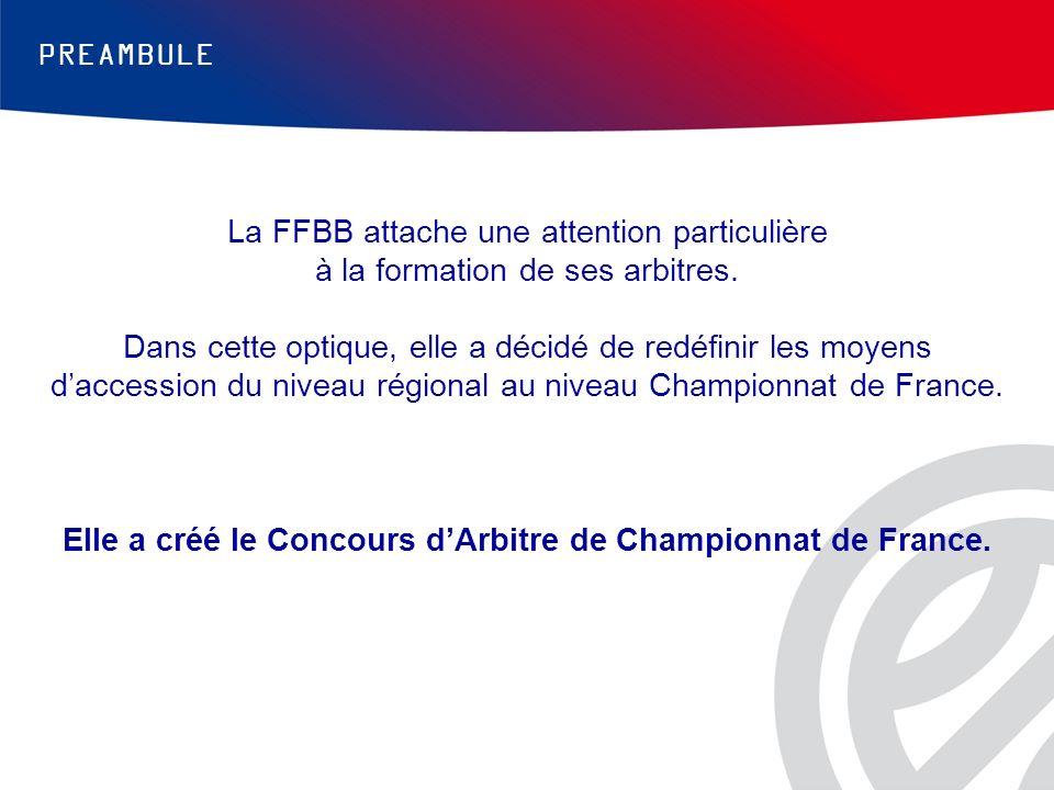 PREAMBULE La FFBB attache une attention particulière à la formation de ses arbitres. Dans cette optique, elle a décidé de redéfinir les moyens daccess