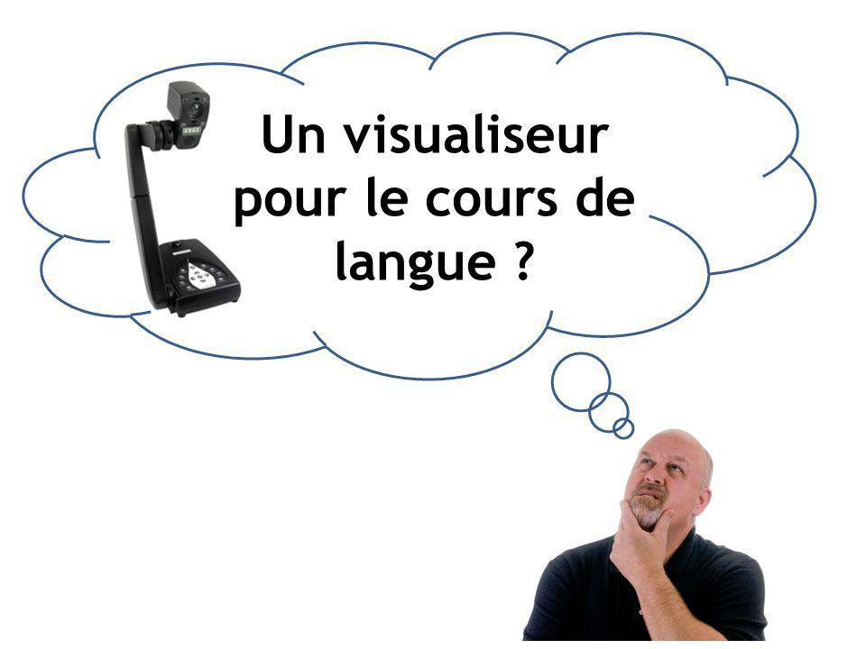 Un visualiseur pour le cours de langue