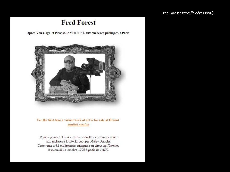 Parcelle/Réseau est une oeuvre d art électronique réalisée par Fred Forest en Septembre 1996.