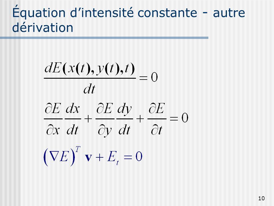 10 Équation dintensité constante - autre dérivation