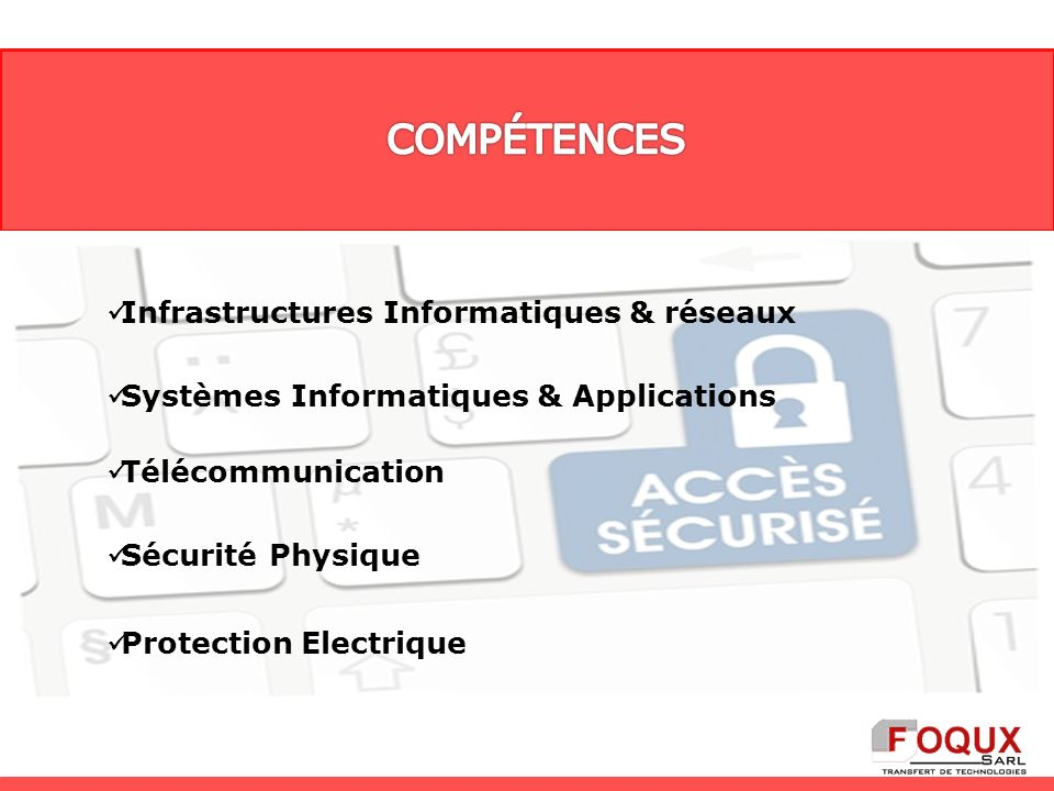 Protection Electrique Infrastructures Informatiques & réseaux Systèmes Informatiques & Applications Télécommunication Sécurité Physique
