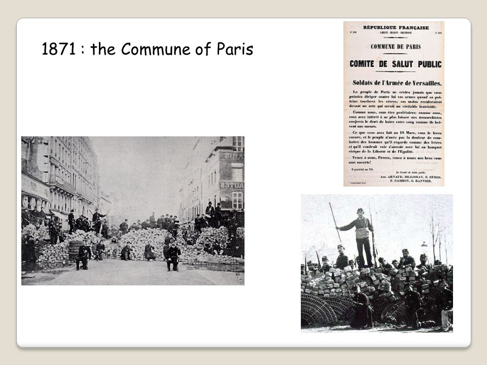 1871 : the Commune of Paris