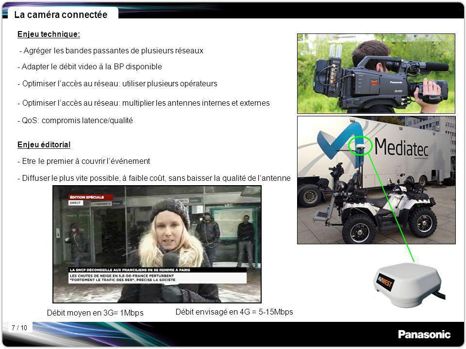 Débit moyen en 3G= 1Mbps Débit envisagé en 4G = 5-15Mbps - Agréger les bandes passantes de plusieurs réseaux - Optimiser laccès au réseau: utiliser pl