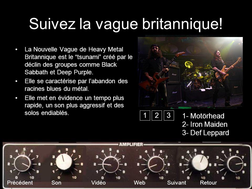 Suivez la vague britannique! La Nouvelle Vague de Heavy Metal Britannique est le tsunami créé par le déclin des groupes comme Black Sabbath et Deep Pu