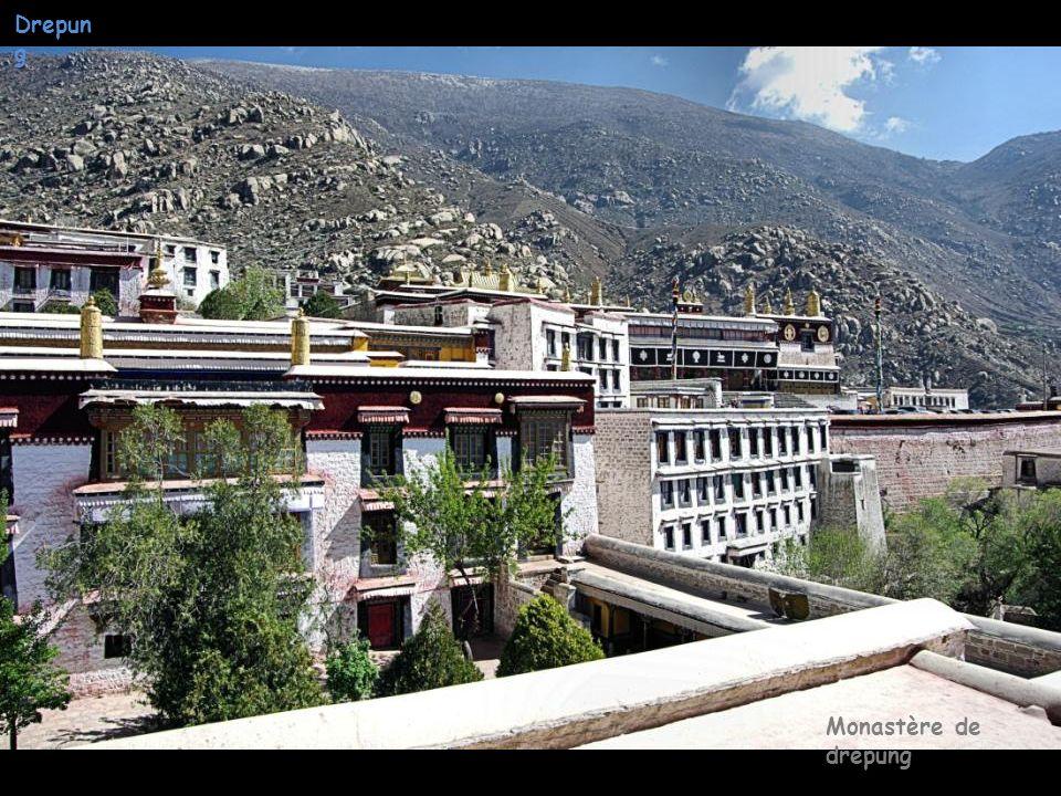 Drepun g Monastère de drepung Bâtiment du 1er Gouvernement Tibétain
