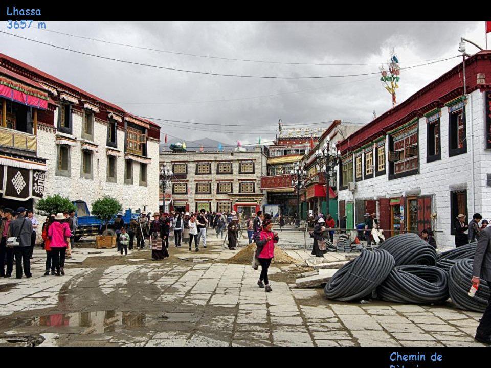 Lhassa 3657 m Monastère Jokhang Chemin de Pèlerinage