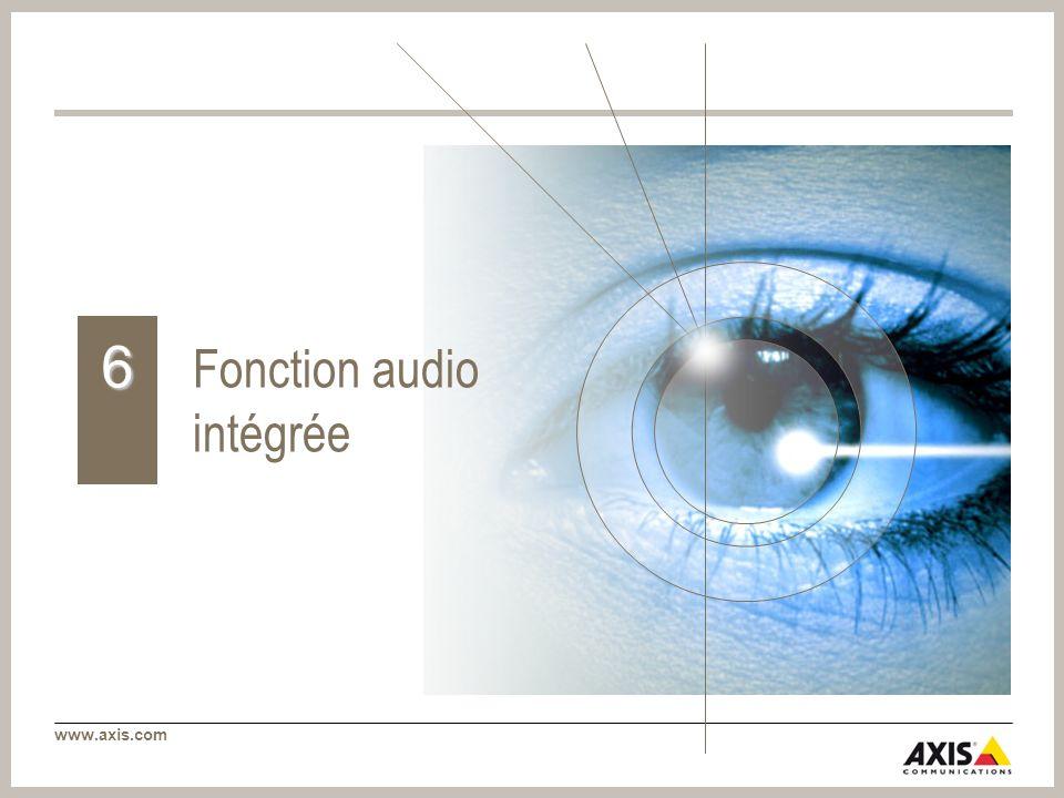 www.axis.com Fonction audio intégrée 6