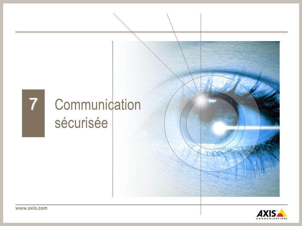 www.axis.com Communication sécurisée 7
