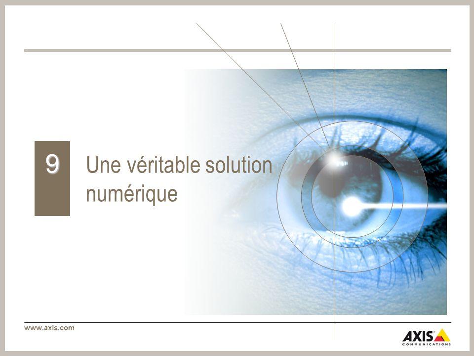 www.axis.com Une véritable solution numérique 9
