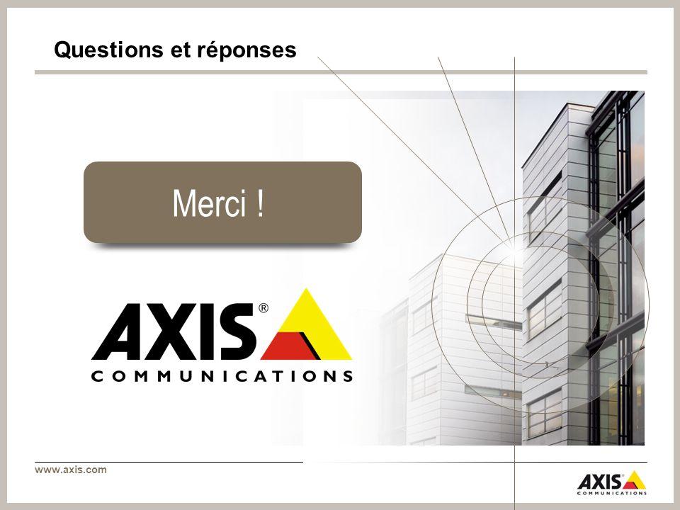 www.axis.com Merci ! Questions et réponses
