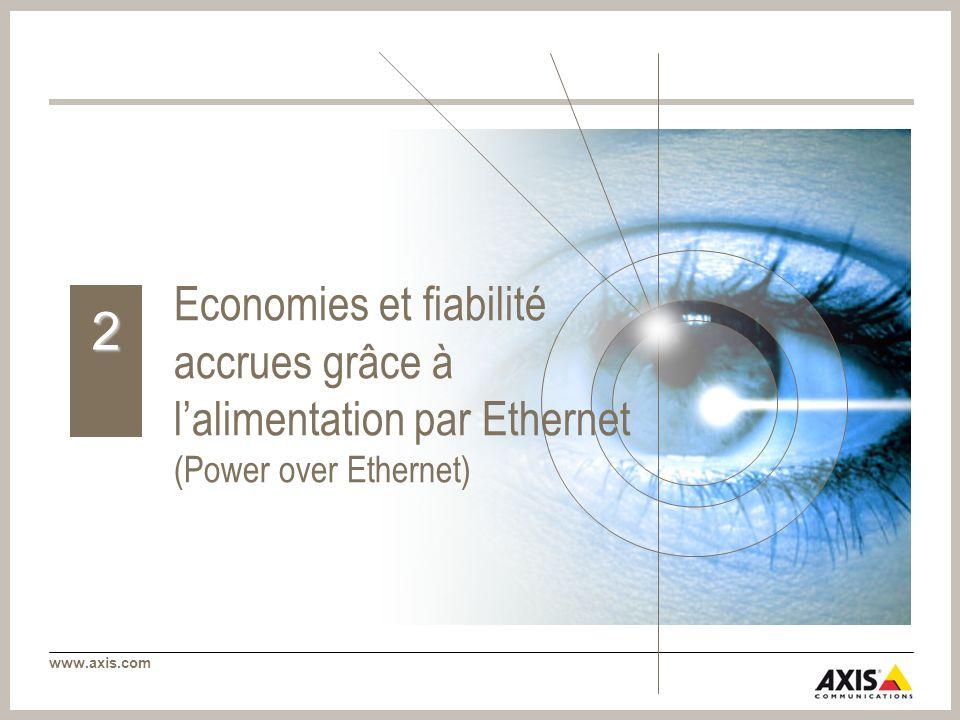 www.axis.com Economies et fiabilité accrues grâce à lalimentation par Ethernet (Power over Ethernet) 2