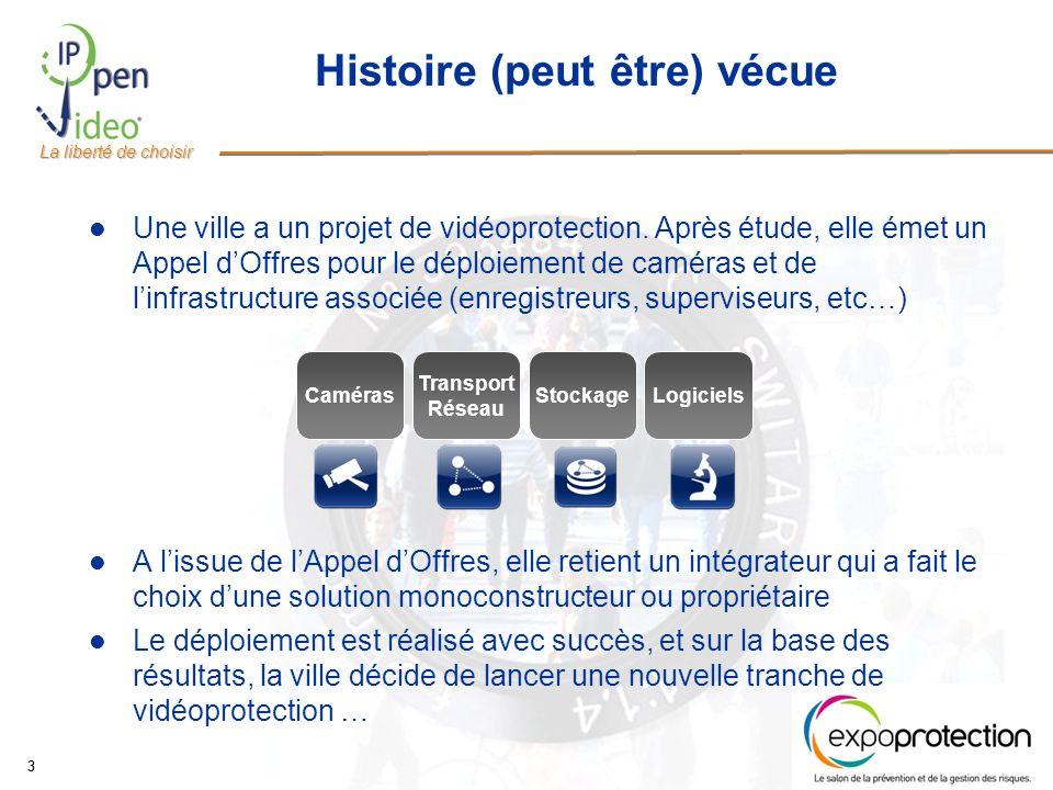La liberté de choisir 33 Histoire (peut être) vécue Une ville a un projet de vidéoprotection.