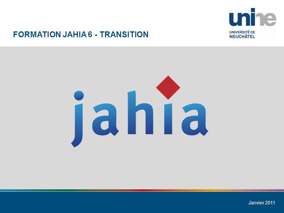 Université de Neuchâtel 12 Formation Jahia 6 - Transition TEMPLATE DIVERS - CONTENU
