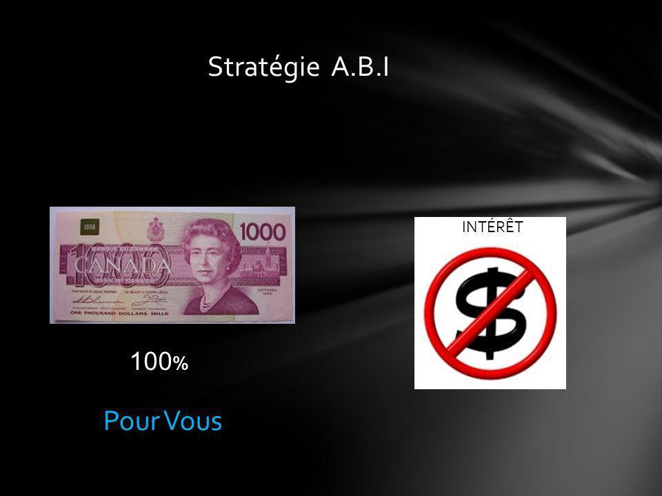 Pour VousPour la banque Capital Intérêts Versement actuel 30% - 40%60% - 70%