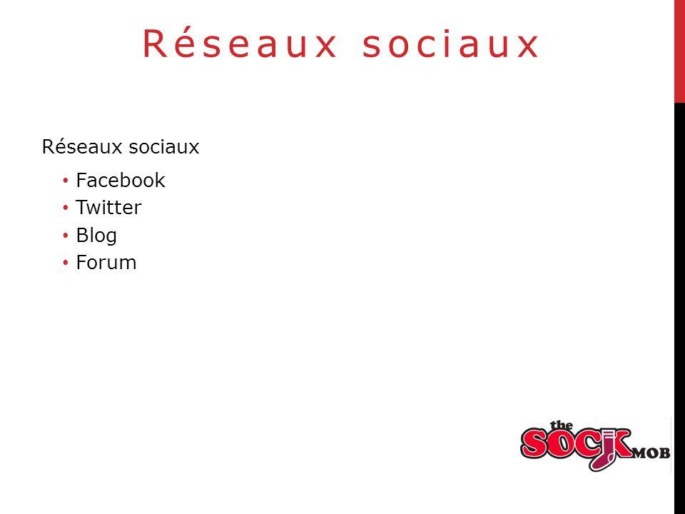 Réseaux sociaux Facebook Twitter Blog Forum