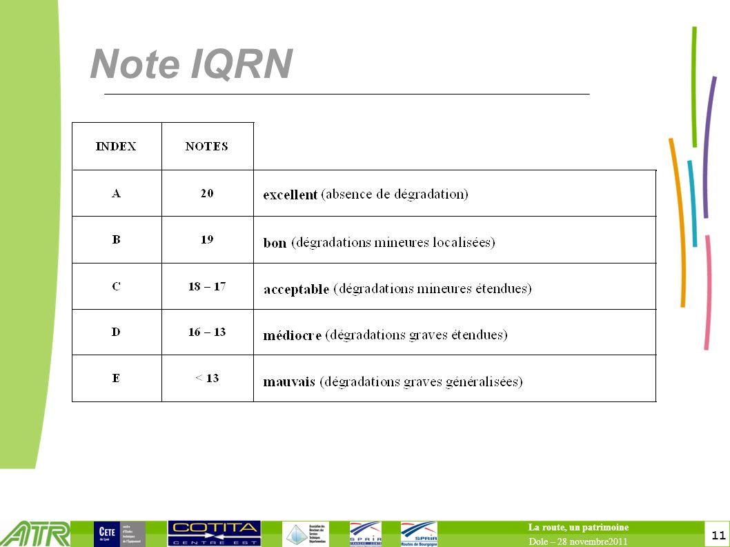 11 Note IQRN La route, un patrimoine Dole – 28 novembre2011