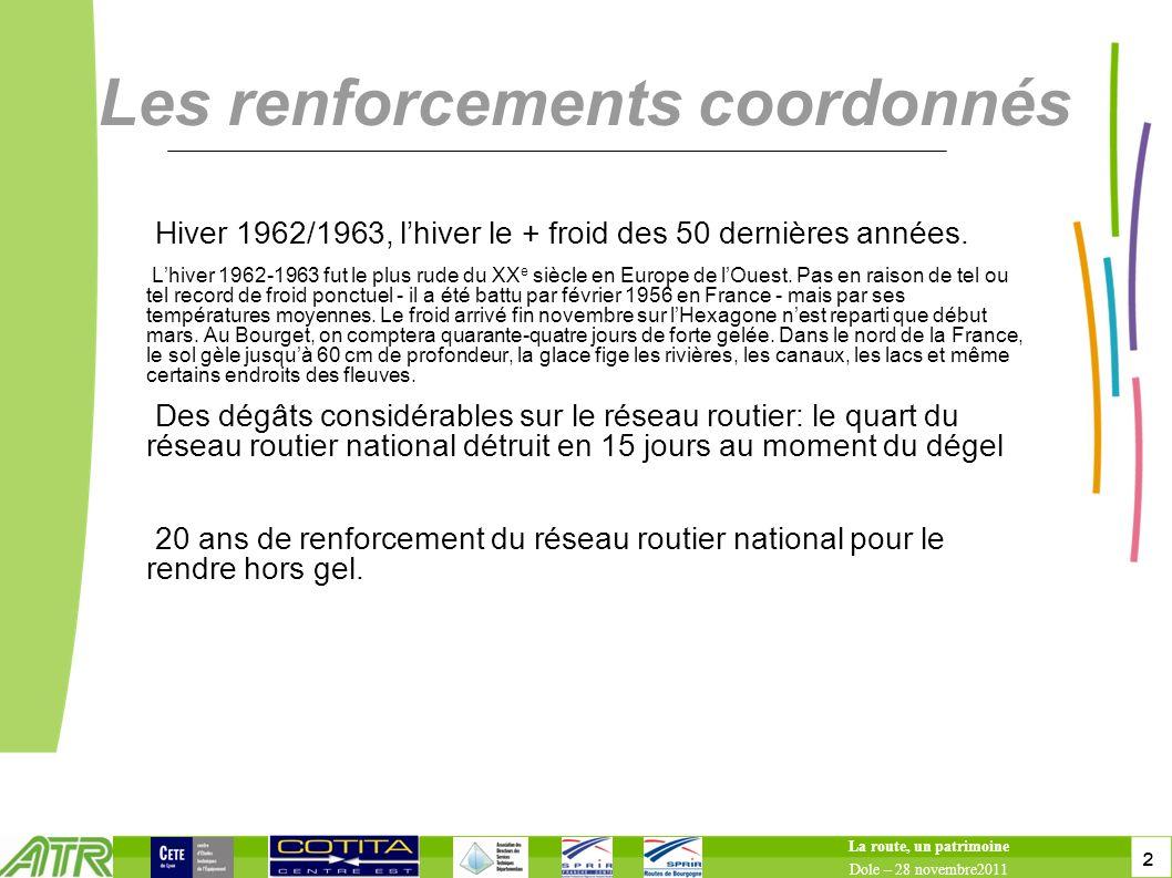 2 2 Les renforcements coordonnés Hiver 1962/1963, lhiver le + froid des 50 dernières années. Lhiver 1962-1963 fut le plus rude du XX e siècle en Europ