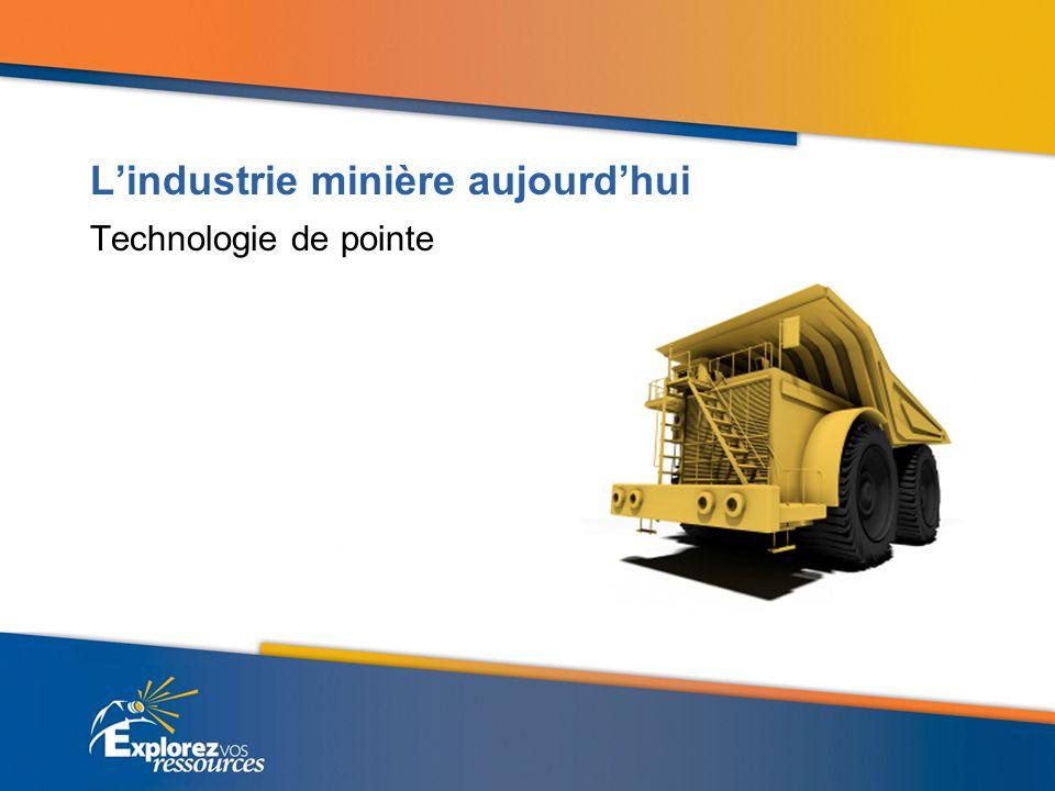 Lindustrie minière aujourdhui Recherche et développement davant-garde