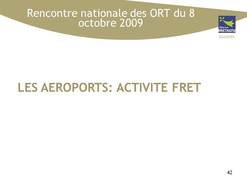 DG4/DITRA 42 LES AEROPORTS: ACTIVITE FRET Rencontre nationale des ORT du 8 octobre 2009