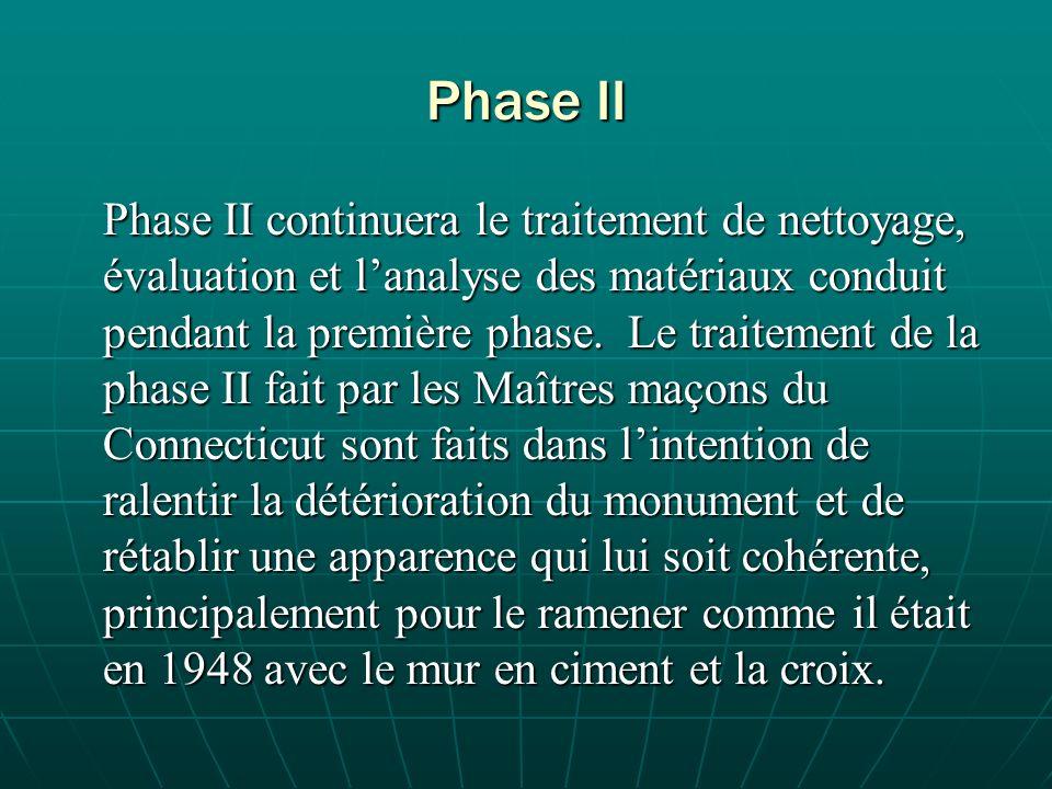 Phase II Phase II continuera le traitement de nettoyage, évaluation et lanalyse des matériaux conduit pendant la première phase.
