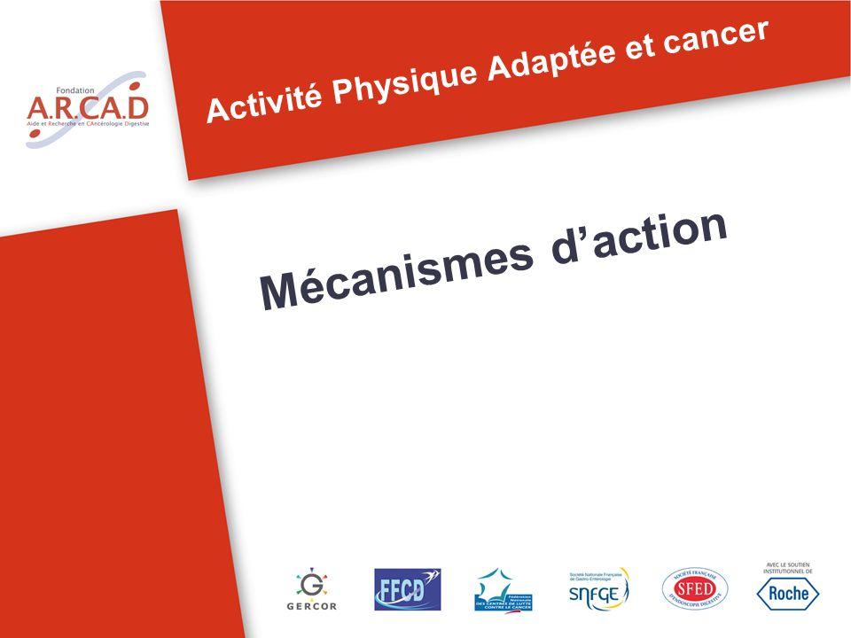 Activité Physique Adaptée et cancer Mécanismes daction