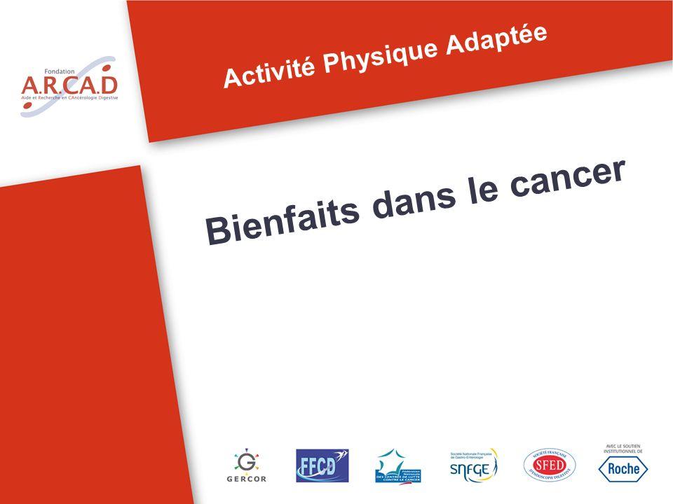 Activité Physique Adaptée Bienfaits dans le cancer