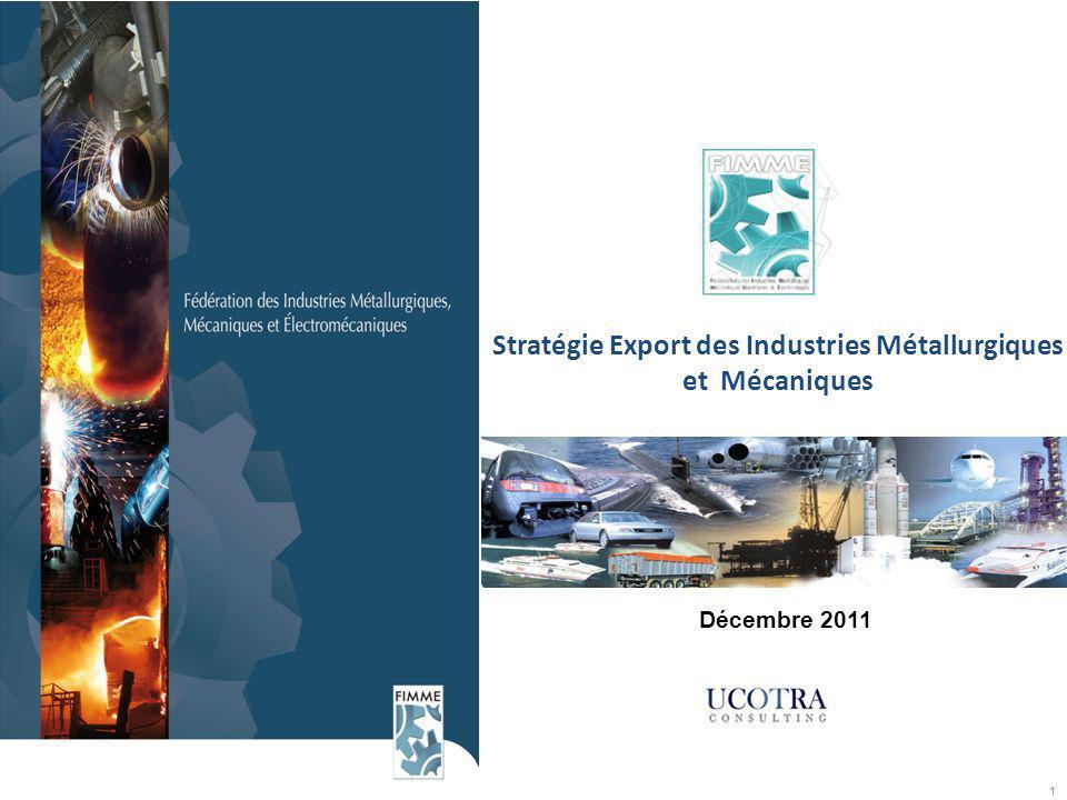 1 Stratégie Export des Industries Métallurgiques et Mécaniques Décembre 2011