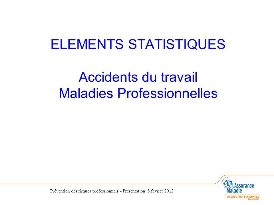 Prévention des risques professionnels - Présentation 8 février 2012 Accident du Travail.