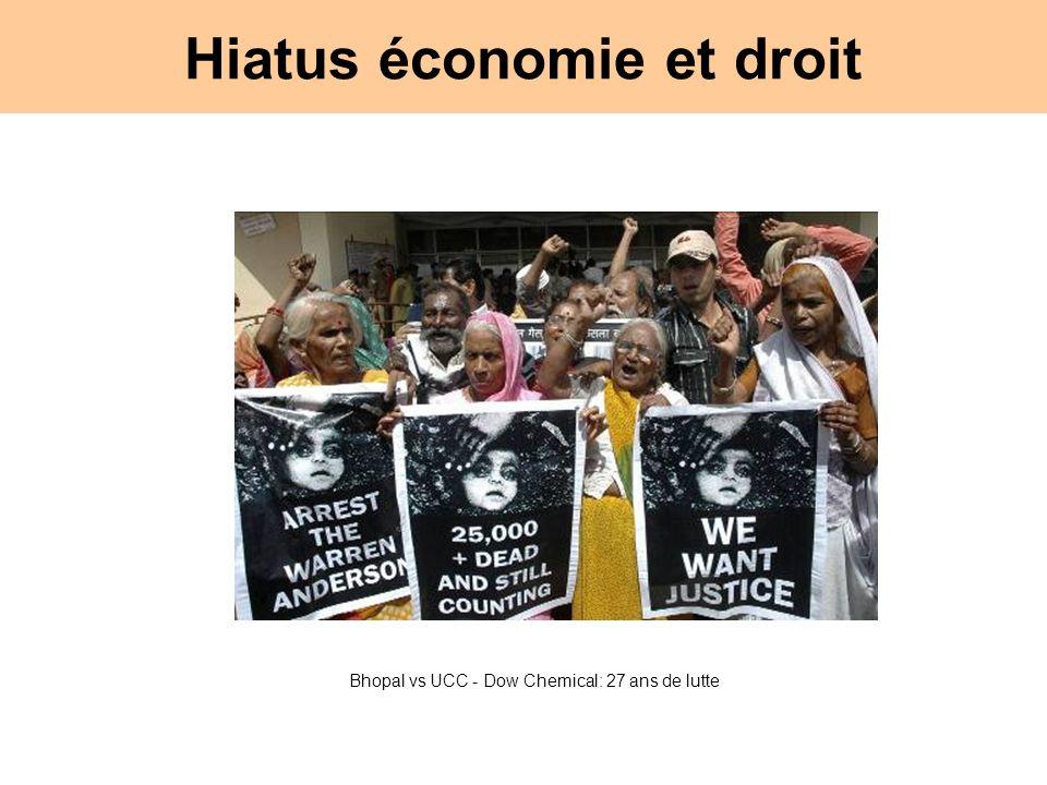 Hiatus économie et droit Bhopal vs UCC - Dow Chemical: 27 ans de lutte