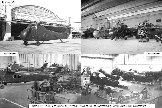 Sikorsky H-34 Sikorsky H-19 et H-34 de larmée de lAir et de lALAT et HSS de lAéronautique Navale dans le hall dassemblage (Jean Delmas)