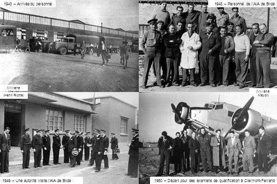 (Viviane Mayor) (Henri Riotte) 1943 – Arrivée du personnel (Viviane Mayor) 1950 – Départ pour des examens de qualification à Clermont-Ferrand 1949 – U
