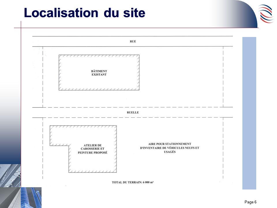 Page 6 Localisation du site