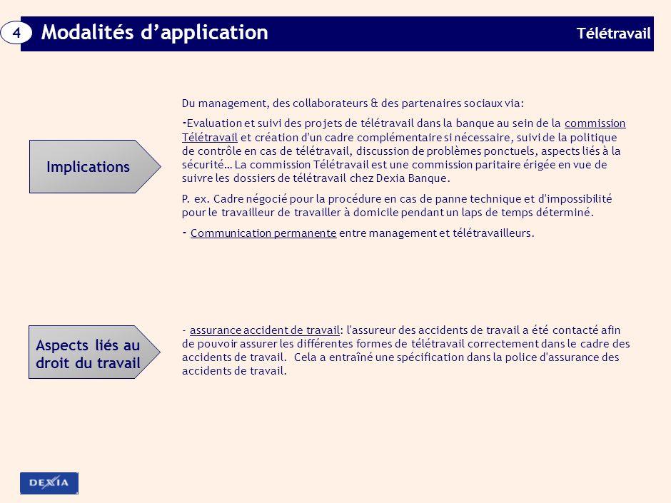 Télétravail 4 Modalités dapplication Télétravail mobile: Remboursement des frais de déplacements professionnels sur base de notes de frais.