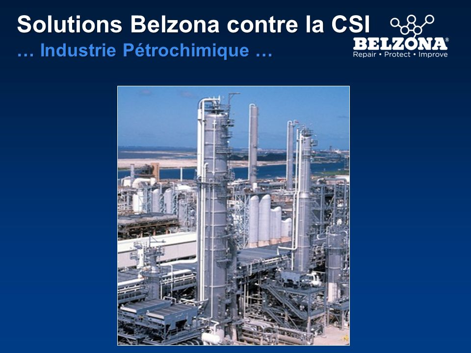Solutions Belzona contre la CSI … Industrie de lEnergie …