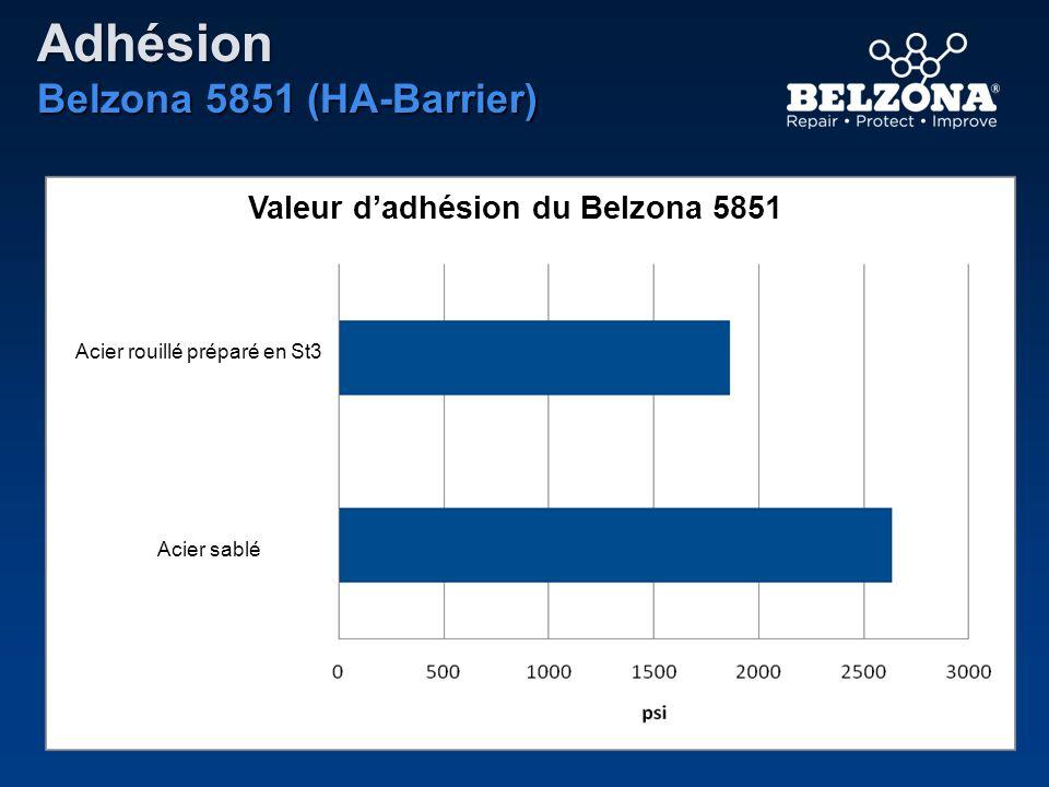 Adhésion Belzona 5851 (HA-Barrier) Acier rouillé préparé en St3 Acier sablé Valeur dadhésion du Belzona 5851