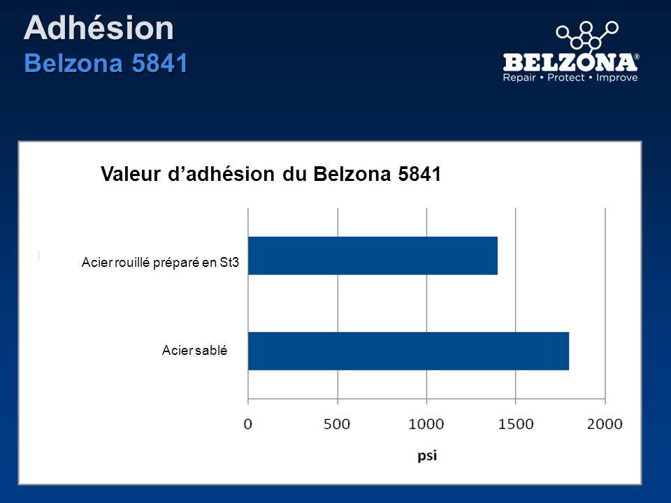 Valeur dadhésion du Belzona 5841 Acier rouillé préparé en St3 Acier sablé Adhésion Belzona 5841
