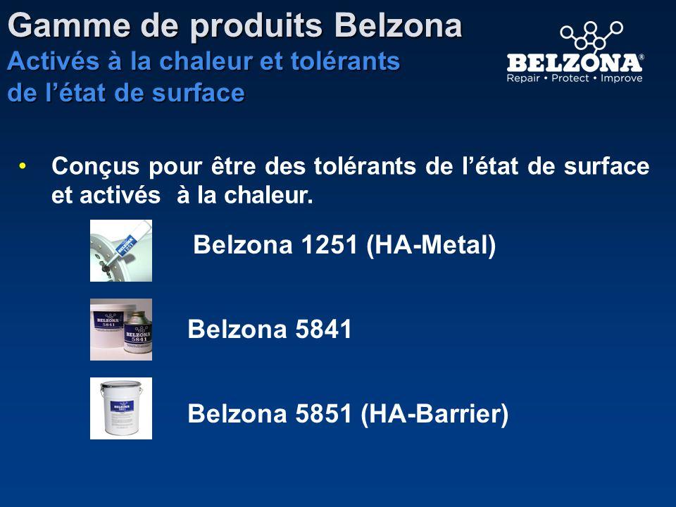Gamme de produits Belzona Activés à la chaleur et tolérants de létat de surface Conçus pour être des tolérants de létat de surface et activés à la cha