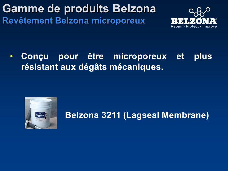 Conçu pour être microporeux et plus résistant aux dégâts mécaniques. Belzona 3211 (Lagseal Membrane) Gamme de produits Belzona Revêtement Belzona micr