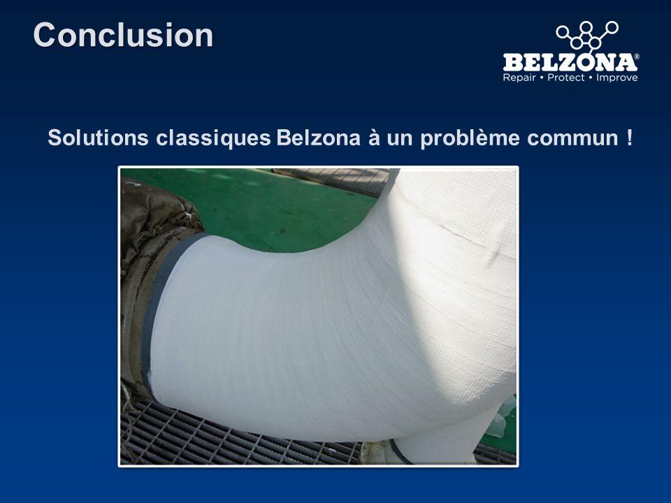 Solutions classiques Belzona à un problème commun ! Conclusion