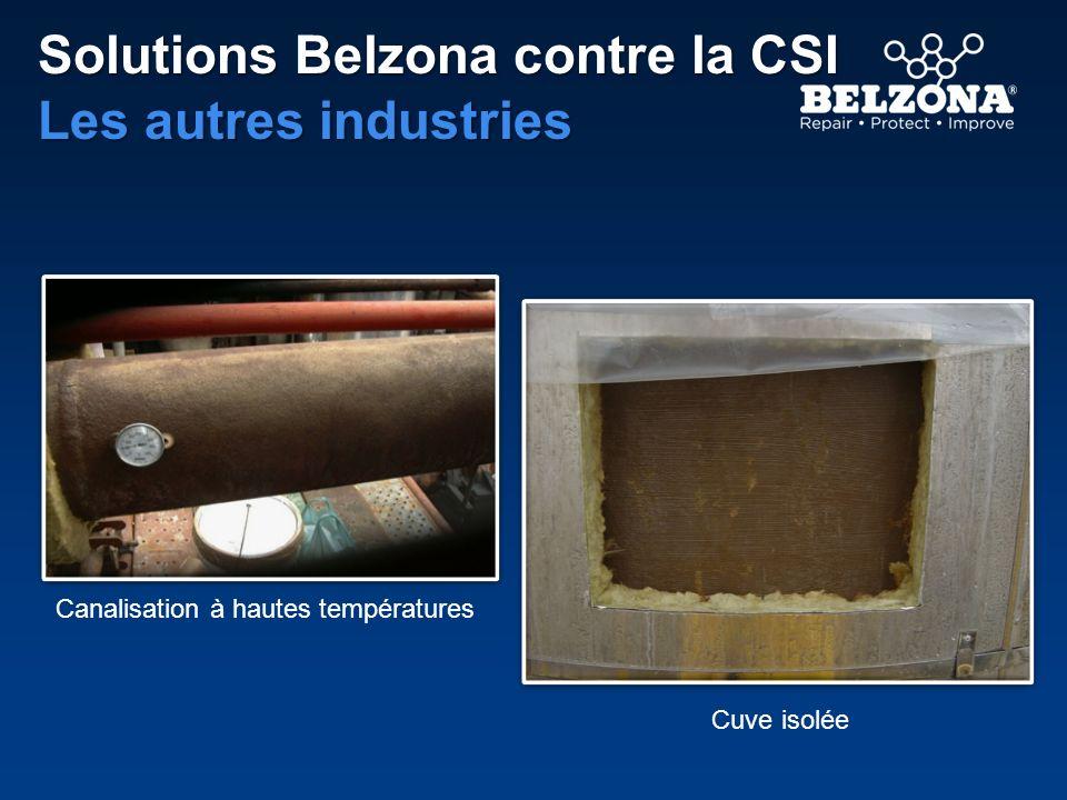 Belzona 1251(HA-Metal) Developpé en 2000 Version de grade pâteux du Belzona 5851 Belzona 3211 (Lagseal Membrane) Développé dans les années 1970 Conçu pour les matériaux disolation microporeux et étanchesHistoire